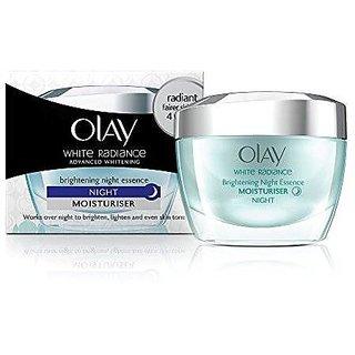 Olay White Radiance Advanced Night Essence Skin Cream Moisturizer, 50g