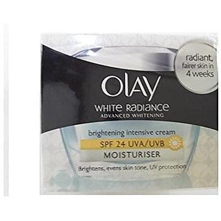 Olay White Radiance Advanced Whitening Brightening Intensive Cream Moistriser,50g