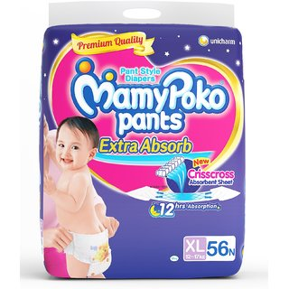 Mamy Poko Extra Absorb Pants Diaper XL 56 Pcs