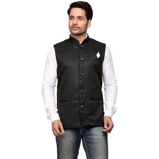Trustedsnap Nehru Jacket For Men ( Black)
