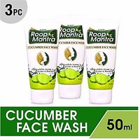 Roop Mantra Herbal Cucumber Face Wash 50ml (Pack of 3)
