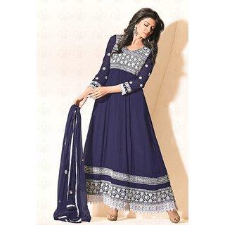 Designer Navy Blue  Sushmita Sen Faux Georgette Anarkali Suit - 11007 (477)