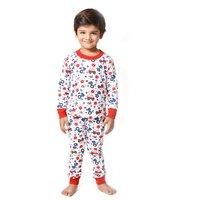 Lilsugar Multicolour Cotton Blend Night Suit