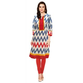 Multi Color Stitched Cotton Kurti