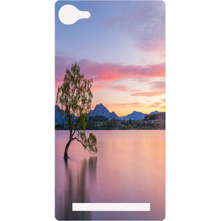 Amagav Printed Back Case Cover for Lyf Wind 1