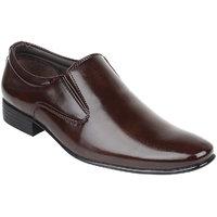 Guava Men Brown Slip On Formal Shoes