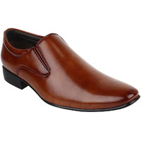 Guava Men Tan Slip On Formal Shoes