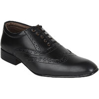 Guava Men Black Lace-up Formal Shoes - 101652404