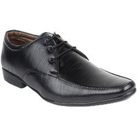 Guava Men Black Lace-up Formal Shoes - 101652425
