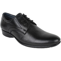 Guava Men Black Lace-up Formal Shoes