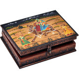 Wooden Hand Painted Dhola Maru Jewellery Box 330