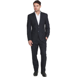 Lee Marc Mens Solid Formal Blue Suits