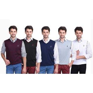 Eprilla Multicolor V-Neck Sleeveless Pullover For Men