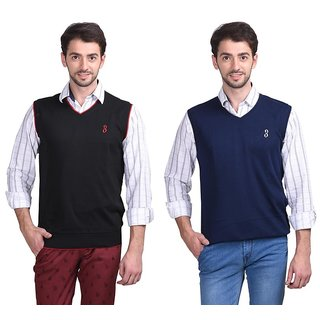 Eprilla Multicolor V-Neck Sleeveless Pullover For Men