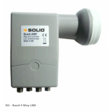 Solid 4-output Ku-Band LNB For Multiple Set-Top Box