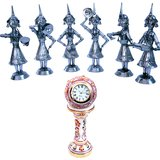 Buy Rajasthani Dancing Dolls N Get Table Clock Free