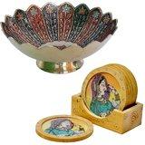Buy Minakari Bowl N Get Wooden Tea Coasters Free