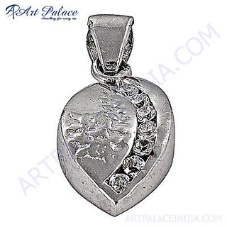 Stylish 925 Sterling Silver Pendant With Cubic Zirconia