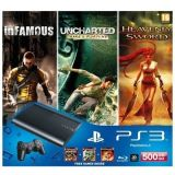 Sony PlayStation 3 500GB Slim Console with 3 Free Games