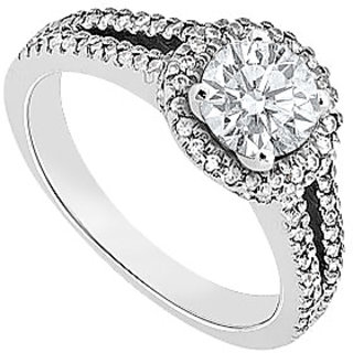 Diamond Engagement Ring 14K White Gold 1.00 CT TDW (Option - 4)