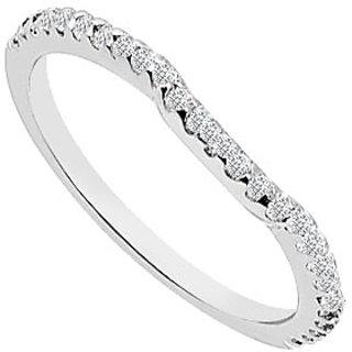 Diamond Wedding Band 14K White Gold 0.25 CT Diamonds (Option - 2)