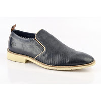 ID Men's Navy Slip On Formal Shoes