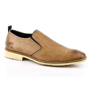 ID Men's Beige Slip On Formal Shoes