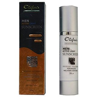 Olifair Men Active Light Sunscreen Spf 70