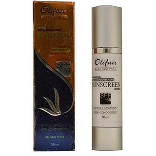 Olifair Advanced Active Brightening Sunscreen Lotion Spf 50