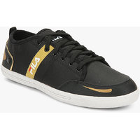 Fila  Destroy Iii Men's Black,Gold Lace-up Casual Shoes