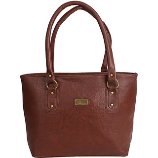 D-Rock Brown Plain Handbag