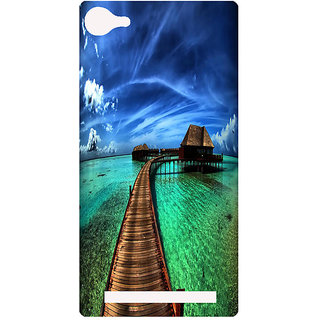 Amagav Printed Back Case Cover for Lyf Wind 1 29LfyWind1