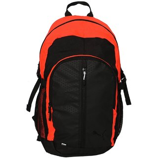 Puma Orange Polyester Backpack