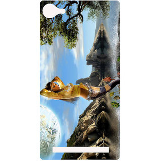 Amagav Printed Back Case Cover for Lyf Wind 1 544LfyWind1