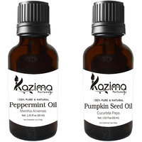 Combo Of Pumpkin Seed Carrier Oil  Peppermint Oil (For Hair Loss, Hair Growth, Aromatherapy, Massage, Skin, ACNE