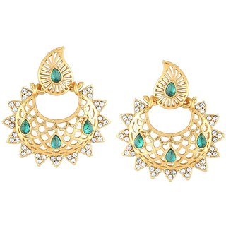 Kashvi Rhodium Plated Yellow Brass & Copper Earring For Women-EF27647