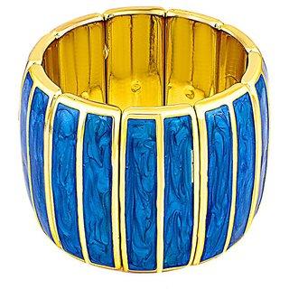 Donatella Rhodium Plated Yellow Bangles For Women-BF28673