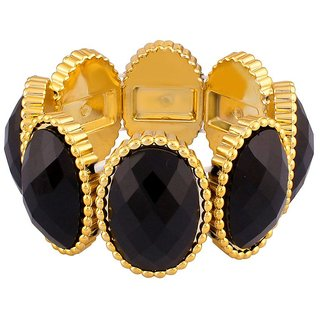 Donatella Rhodium Plated Yellow Bangles For Women-BF28774