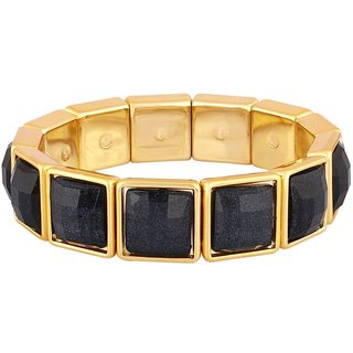 Donatella Rhodium Plated Yellow Bangles For Women-BF28798