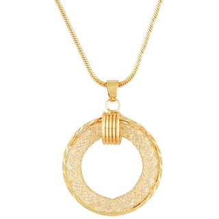 Tichino Cubic Zirconia (CZ) Yellow Rhodium Plated Pendant For Women-PF28644