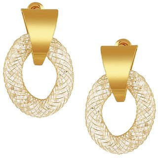 Tichino Rhodium Plated Yellow Brass & Copper Earring For Women-EF28242