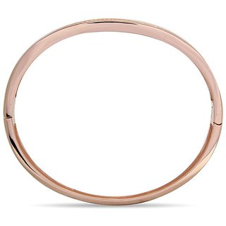 Lucera Rhodium Plated Pink Sterling Silver Bangle For Women-GF21724P