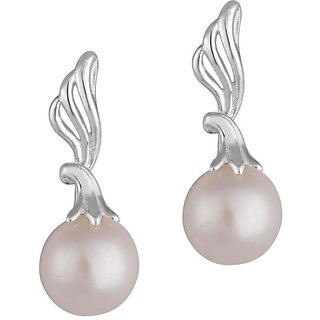 Jhalak Rhodium Plated White Sterling Silver Earring For Women-EF21624W