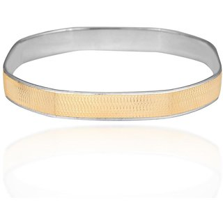 Vivaaha Rhodium Plated Yellow Sterling Silver Bangle For Women-GF22916