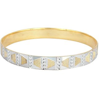 Vivaaha Rhodium Plated Yellow Sterling Silver Bangle For Women-GF22217