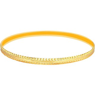 Vivaaha Rhodium Plated Yellow Sterling Silver Bangle For Women-GF23975