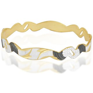 Vivaaha Rhodium Plated Yellow Sterling Silver Bangle For Women-GF22912