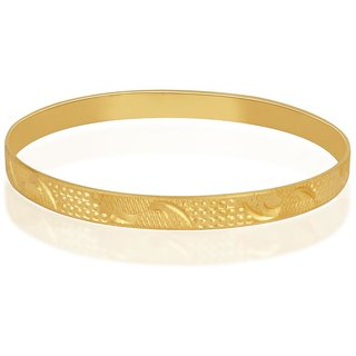 Vivaaha Rhodium Plated Yellow Sterling Silver Bangle For Women-GF22941