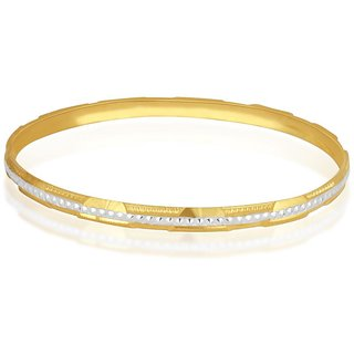 Vivaaha Rhodium Plated Yellow Sterling Silver Bangle For Women-GF23963
