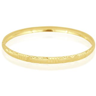 Vivaaha Rhodium Plated Yellow Sterling Silver Bangle For Women-GF23978